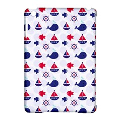 Nautical Sea Pattern Apple Ipad Mini Hardshell Case (compatible With Smart Cover)
