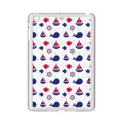 Nautical Sea Pattern Apple iPad Mini 2 Case (White)