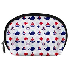 Nautical Sea Pattern Accessory Pouch (large)
