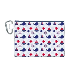 Nautical Sea Pattern Canvas Cosmetic Bag (medium)