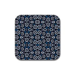 Floral Print Seamless Pattern In Cold Tones  Drink Coasters 4 Pack (square)