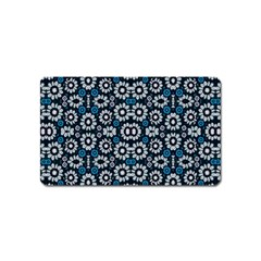 Floral Print Seamless Pattern In Cold Tones  Magnet (name Card)