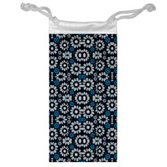 Floral Print Seamless Pattern In Cold Tones  Jewelry Bag