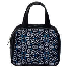 Floral Print Seamless Pattern In Cold Tones  Classic Handbag (one Side)