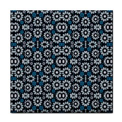 Floral Print Seamless Pattern In Cold Tones  Face Towel