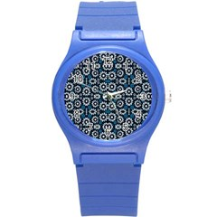 Floral Print Seamless Pattern In Cold Tones  Plastic Sport Watch (small)