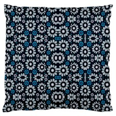 Floral Print Seamless Pattern In Cold Tones  Large Cushion Case (single Sided)