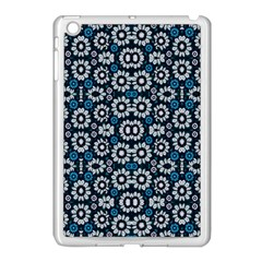 Floral Print Seamless Pattern In Cold Tones  Apple Ipad Mini Case (white)