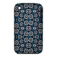 Floral Print Seamless Pattern in Cold Tones  Apple iPhone 3G/3GS Hardshell Case (PC+Silicone)