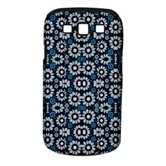 Floral Print Seamless Pattern In Cold Tones  Samsung Galaxy S Iii Classic Hardshell Case (pc+silicone)