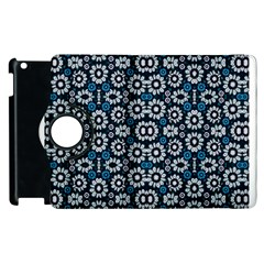 Floral Print Seamless Pattern in Cold Tones  Apple iPad 2 Flip 360 Case