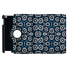 Floral Print Seamless Pattern In Cold Tones  Apple Ipad 3/4 Flip 360 Case