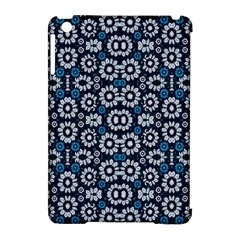 Floral Print Seamless Pattern In Cold Tones  Apple Ipad Mini Hardshell Case (compatible With Smart Cover)