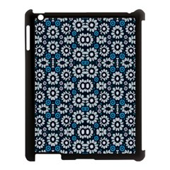 Floral Print Seamless Pattern In Cold Tones  Apple Ipad 3/4 Case (black)