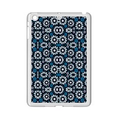 Floral Print Seamless Pattern in Cold Tones  Apple iPad Mini 2 Case (White)