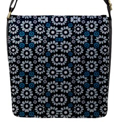 Floral Print Seamless Pattern In Cold Tones  Flap Closure Messenger Bag (small)