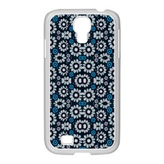 Floral Print Seamless Pattern In Cold Tones  Samsung Galaxy S4 I9500/ I9505 Case (white)