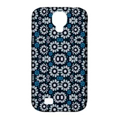 Floral Print Seamless Pattern In Cold Tones  Samsung Galaxy S4 Classic Hardshell Case (pc+silicone)