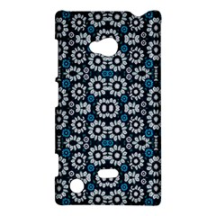 Floral Print Seamless Pattern in Cold Tones  Nokia Lumia 720 Hardshell Case