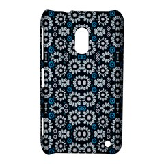 Floral Print Seamless Pattern in Cold Tones  Nokia Lumia 620 Hardshell Case