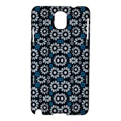 Floral Print Seamless Pattern In Cold Tones  Samsung Galaxy Note 3 N9005 Hardshell Case