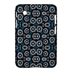 Floral Print Seamless Pattern in Cold Tones  Samsung Galaxy Tab 2 (7 ) P3100 Hardshell Case