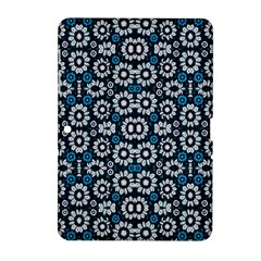 Floral Print Seamless Pattern in Cold Tones  Samsung Galaxy Tab 2 (10.1 ) P5100 Hardshell Case