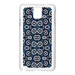 Floral Print Seamless Pattern In Cold Tones  Samsung Galaxy Note 3 N9005 Case (white)