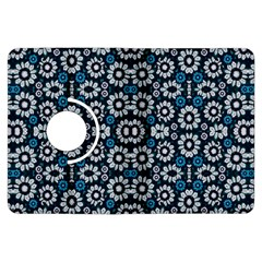 Floral Print Seamless Pattern In Cold Tones  Kindle Fire Hdx Flip 360 Case