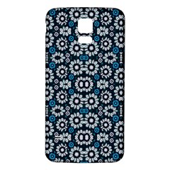 Floral Print Seamless Pattern In Cold Tones  Samsung Galaxy S5 Back Case (white)