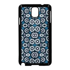 Floral Print Seamless Pattern in Cold Tones  Samsung Galaxy Note 3 Neo Hardshell Case (Black)