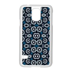 Floral Print Seamless Pattern in Cold Tones  Samsung Galaxy S5 Case (White)