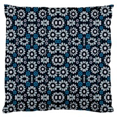 Floral Print Seamless Pattern in Cold Tones  Large Flano Cushion Case (Two Sides)