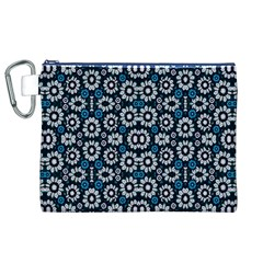 Floral Print Seamless Pattern In Cold Tones  Canvas Cosmetic Bag (xl)
