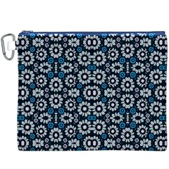 Floral Print Seamless Pattern in Cold Tones  Canvas Cosmetic Bag (XXXL)