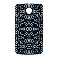 Floral Print Seamless Pattern in Cold Tones  Google Nexus 6 Case (White)