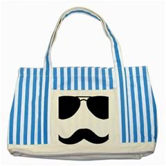 Aviators Tache Blue Striped Tote Bag