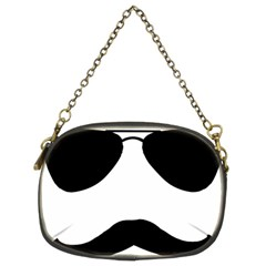Aviators Tache Chain Purse (two Sided)