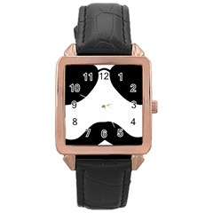 Aviators Tache Rose Gold Leather Watch
