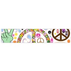 Peace Collage Flano Scarf (small)