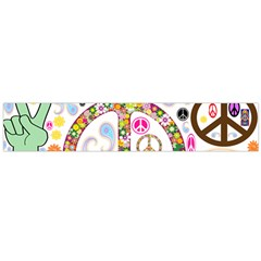 Peace Collage Flano Scarf (Large)