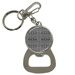 Cyberpunk Silver Print Pattern  Bottle Opener Key Chain