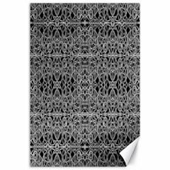 Cyberpunk Silver Print Pattern  Canvas 24  x 36  (Unframed)
