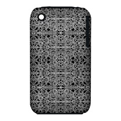 Cyberpunk Silver Print Pattern  Apple iPhone 3G/3GS Hardshell Case (PC+Silicone)