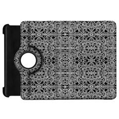 Cyberpunk Silver Print Pattern  Kindle Fire Hd Flip 360 Case