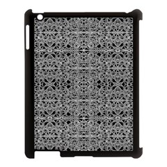 Cyberpunk Silver Print Pattern  Apple Ipad 3/4 Case (black)