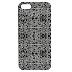 Cyberpunk Silver Print Pattern  Apple Iphone 5 Hardshell Case With Stand