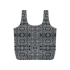 Cyberpunk Silver Print Pattern  Reusable Bag (S)