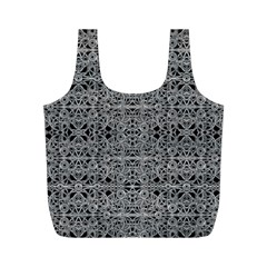 Cyberpunk Silver Print Pattern  Reusable Bag (M)