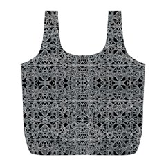 Cyberpunk Silver Print Pattern  Reusable Bag (L)